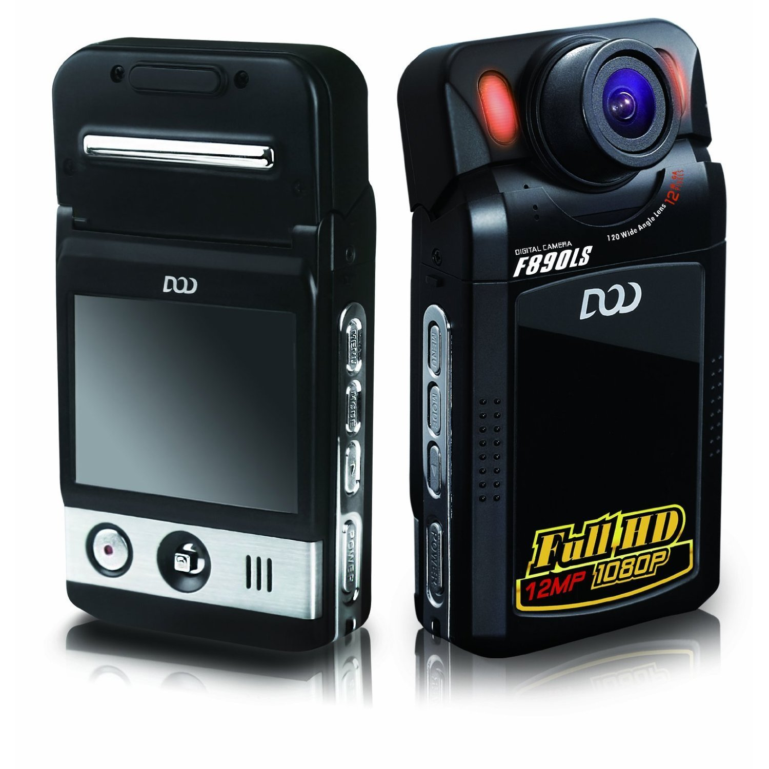 DOD 1080P HD Infrared Dash Camera with LCD (60FPS - 4 IRs)
