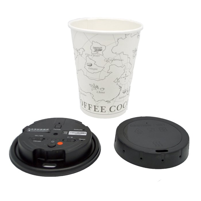 1080P Covert Coffee Cup Lid Camera DVR with WiFi